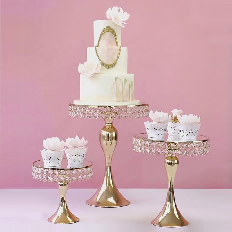 Crystal Mirror Cake Stand