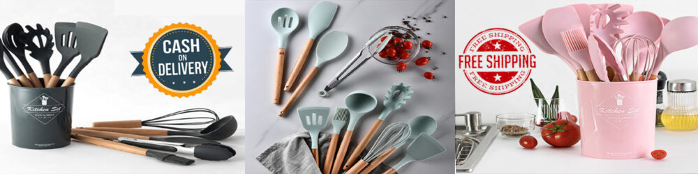 Silicone Kitchen Utensil 12pcs