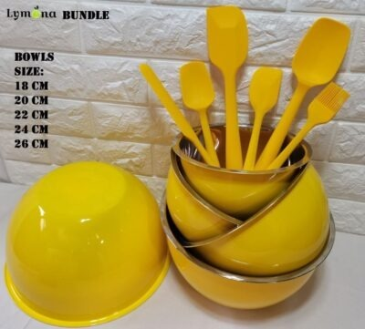 Mixing Bowl 5pcs with Spatula 6pcs