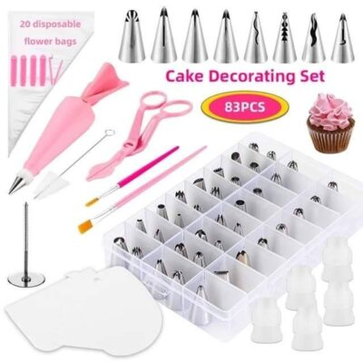 Cake decorating icing nozzle tips 83pcs