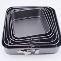 Square Spring-Form Dessert Pan Nonstick Leak-Proof Cake Pan 3pcs